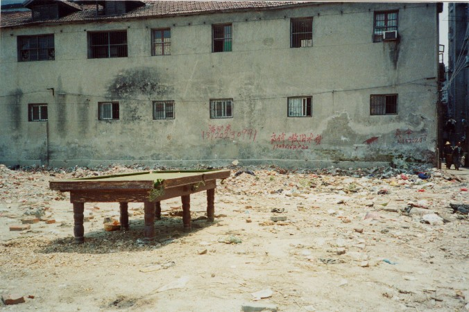 Abandoned snooker table, Wuhan - image by Penny Pitt-Alizadeh