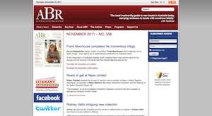 A screenshot from the ABR website taken on 25 November 2011