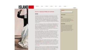 A screenshot from the Island website taken on 25 November 2011