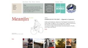 A screenshot from the Meanjin website taken on 25 November 2011
