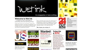 A screenshot from the Wet Ink website taken on 25 November 2011