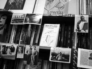 The Beats & Co and Jazz shelf at Collected Works