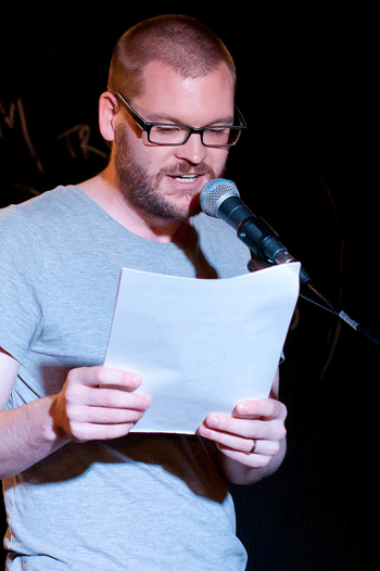 Traverse poetry slam organiser Julian Fleetwood