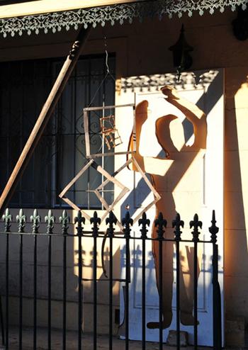 sculpture installations 1 in Queen Street Glebe