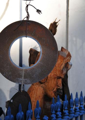 sculpture installations 2 in Queen Street Glebe