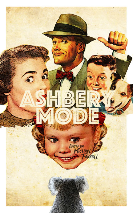 The front cover of Ashbery Mode (edited by Michael Farrell).